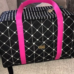 Betsey Johnson Black white and pink Weekender